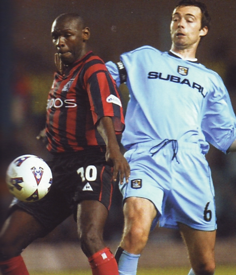 Coventry away 2001 to 02 action