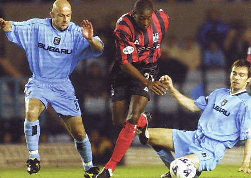 Coventry away 2001 to 02 action3