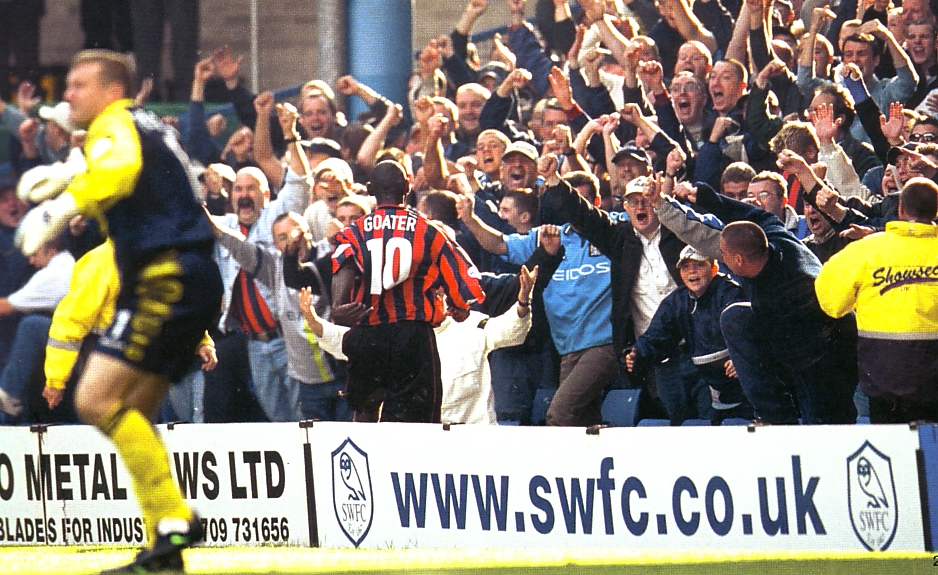 sheff wed away 2001 to 02 goater goal celeb