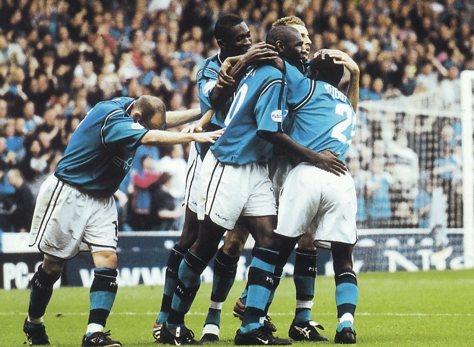 stockport home 2001 to 02 goater city 2nd goal celeb