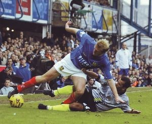 Portsmouth Away 2001 to 02 action