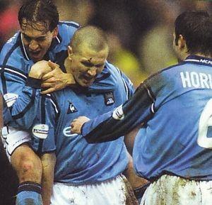 Preston home 2001 to 02 howey goal3