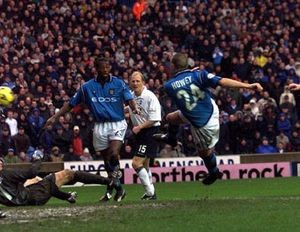 Preston home 2001 to 02 howey goal4