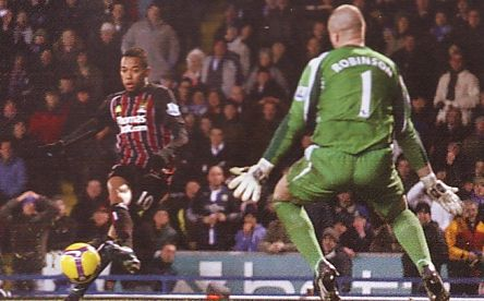 blackburn away 2008 to 09 robinho goal