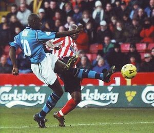 sheff utd away 2001 to 02 action