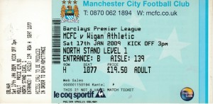 wigan home 2008 to 09 ticket