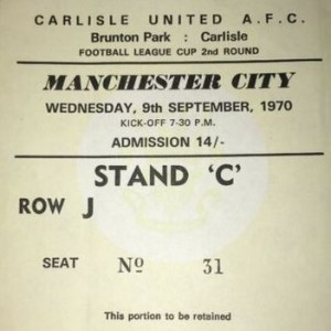 carlisle away 1970-71 ticket