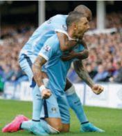 everton away 2015 to 16 kolarov goal