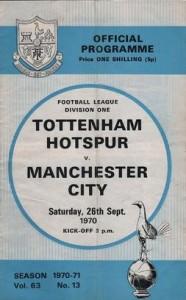 tottenham away 1970 to 71 prog