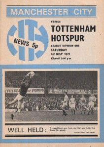tottenham home 1970 to 71 prog