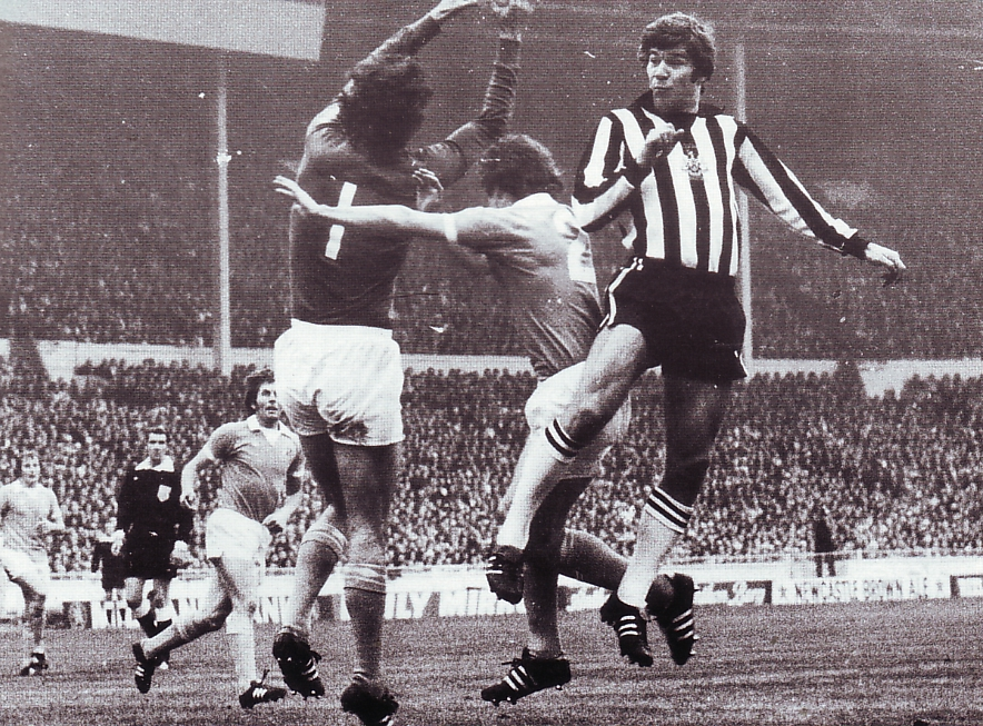 1976 league cup final action bw