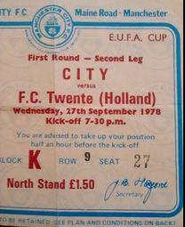twente enschede home 1978 to 79 ticket