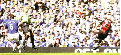 everton away 2008 to 09 ireland goal