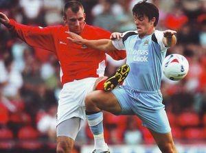 Wrexham away friendly 2006 to 07 action
