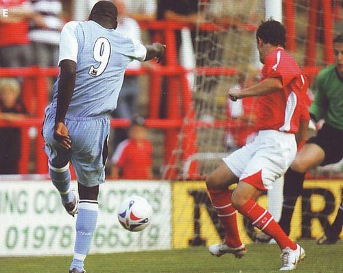 Wrexham away friendly 2006 to 07 miller goal