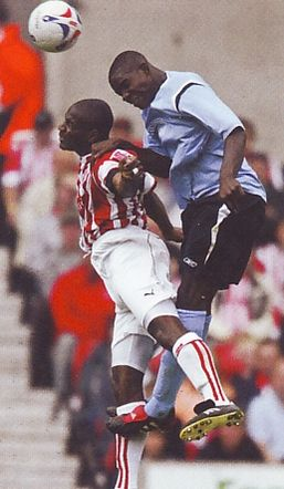 Stoke away friendly 2005 to 06 action