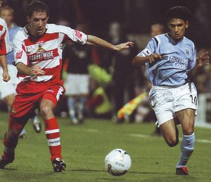 doncaster away 2005 to 06 action