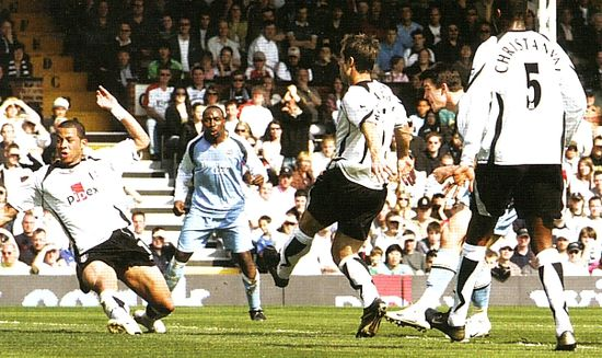 fulham away 2006 to 07 barton goal