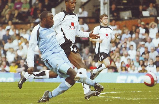 fulham away 2006 to 07 vassell goal