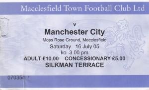 macclesfield away 2005 to 06 ticket
