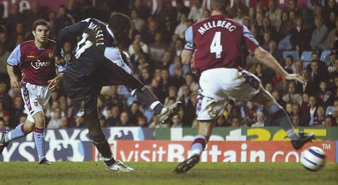 aston villa away 2005 to 06 vassell winner