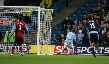 aston villa home 2005 to 06 vassell 1st goal