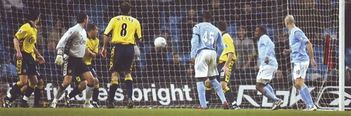 aston villa home fa cup replay 2005 to 06 vassell goal