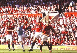 man utd away 2009 to 10 bellamys 1st goal