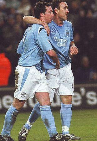 scunthorpe home fa cup 2005-06 fowler hatrick celeb