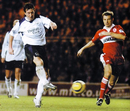 middlesbrough away 2004 to 05 FOWLER GOAL