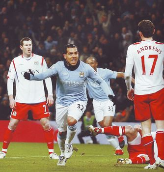 blackburn home 2009 to 10 tevez 1st goal