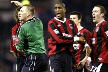 wba away 2004 to 05 disallowed Dunne's strike