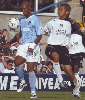 Fulham away 2003 to 04 action