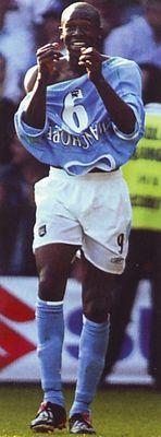 Fulham away 2003 to 04 wanchope goal celeb