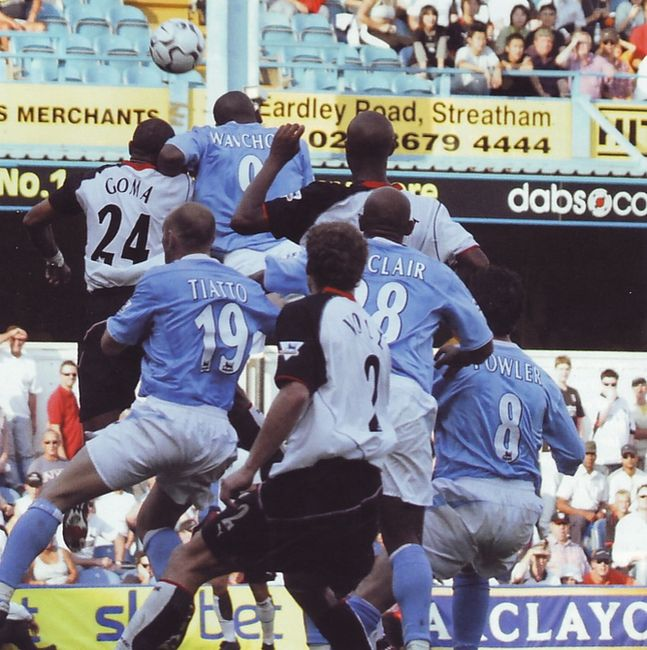 Fulham away 2003 to 04 wanchope goal