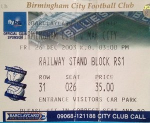 birmingham away 2003 to 04 ticket