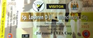 lokeren away 2003 to 04 ticket