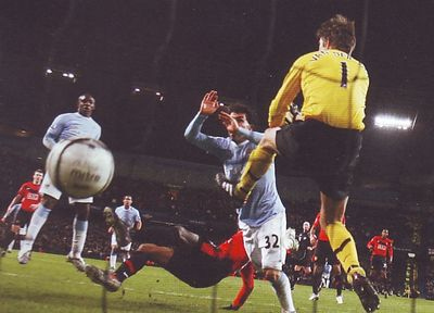 man utd home league cup semi 2009 to 10 2nd tevez goal