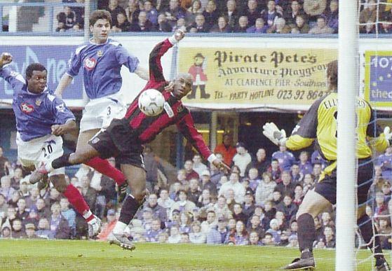 portsmouth away 2003 to 04 stefanovic pompey goal