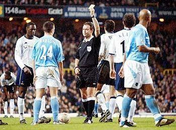tottenham away FA Cup 2003 to 04 barton booked