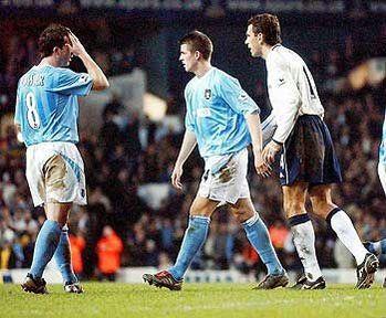 tottenham away FA Cup 2003 to 04 barton sent off