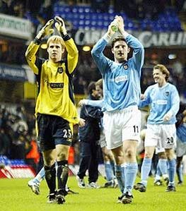 tottenham away FA Cup 2003 to 04 celeb