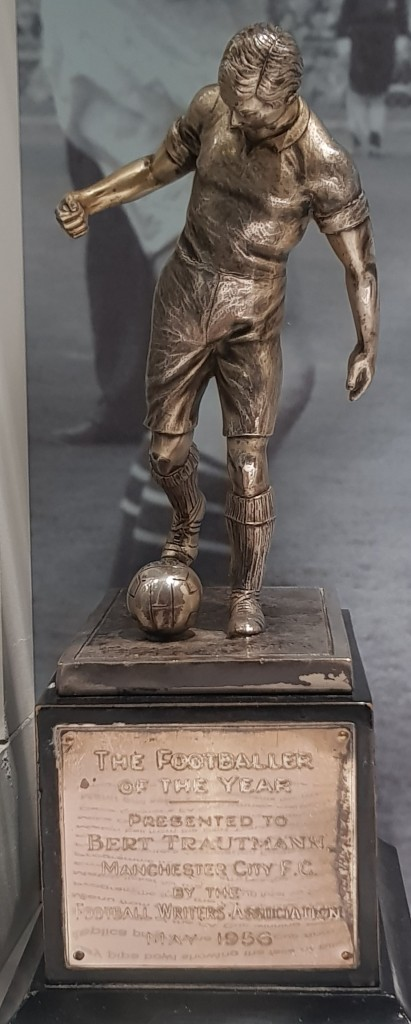 1955 to 56 trautmann player of the year award in museum