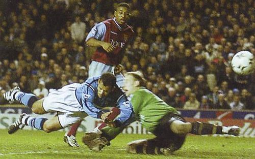 Aston villa home 2002 to 03 bernabia goal