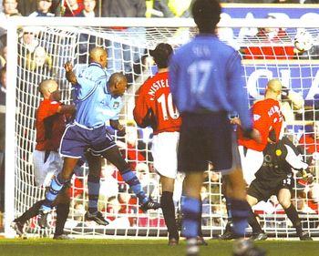 Man U away 2002 to 03 Goat goal3