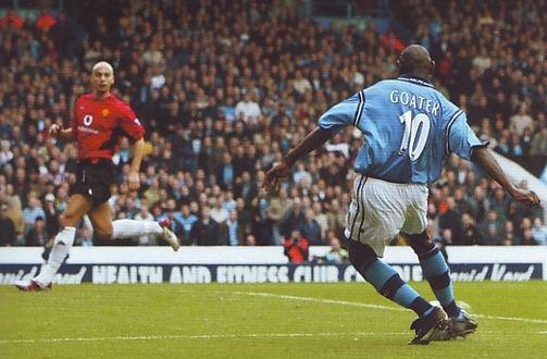 Man utd home 2002 to 03 goater 1st goal