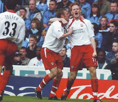 Southampton home 2002 to 03 michael svensson goal