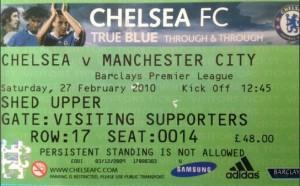 chelsea away 2009 to 10 ticket