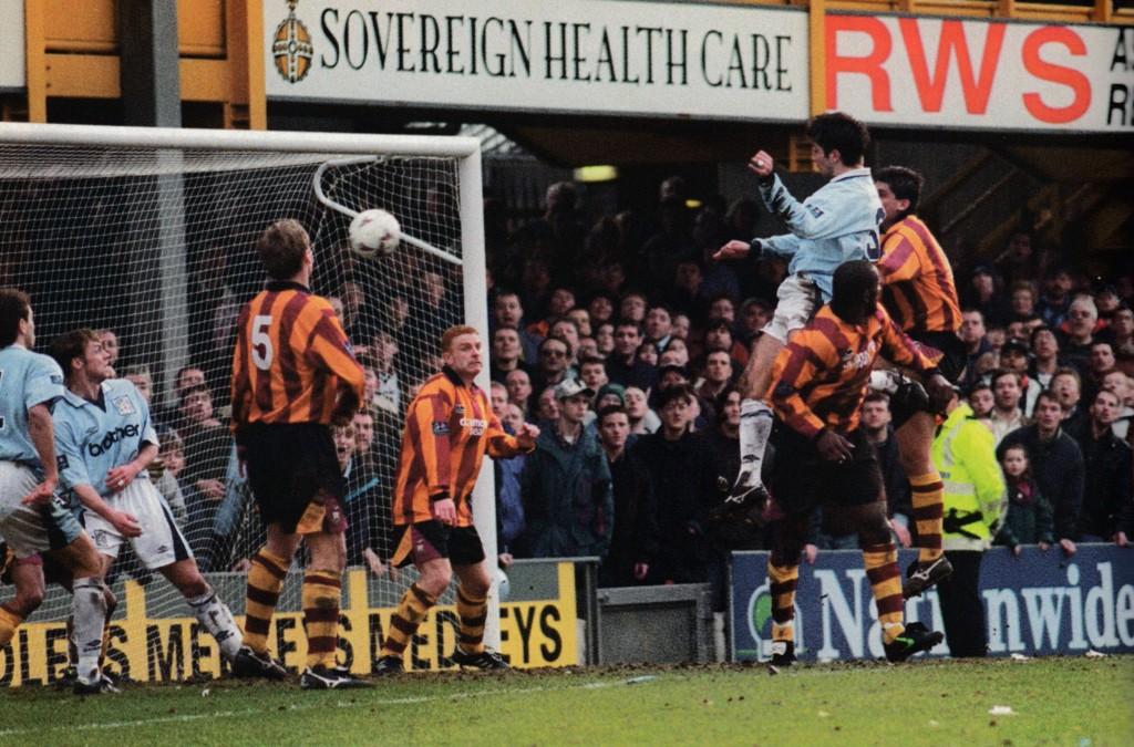bradford away 1996 to 97 horlock goal4