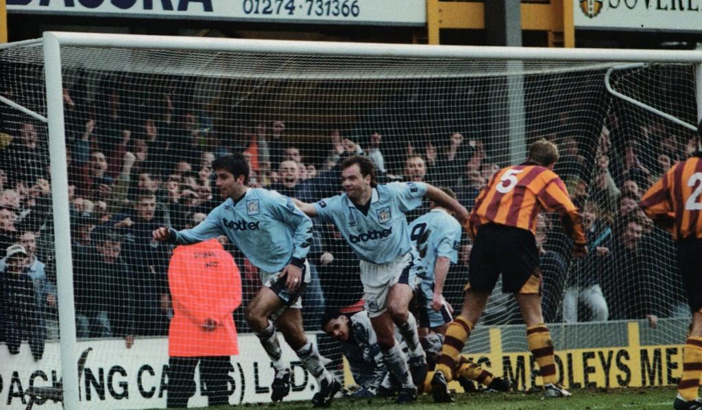 bradford away 1996 to 97 horlock goal5